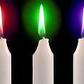 Candle Flames by Victor De Schwanberg