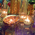 Candle Light Reflections  by Pamela Patch