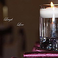 Candle - Live Laugh Love by Travis Truelove