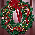 Candy Christmas Wreath by Sally Weigand