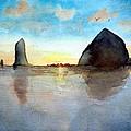 Cannon Beach Sunset by Chriss Pagani