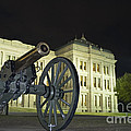 Cannon In Front Of The Texas State Capitol In Austin by Andre Babiak
