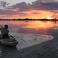 Canoe At Sunset by Francesa Miller