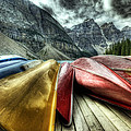 Canoes 2 by Diane Dugas