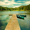 Canoes At The End Of The Dock by Jill Battaglia