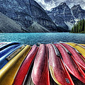 Canoes by Diane Dugas