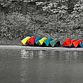 Canoes In A Row by Gord Patterson