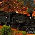 Canyon Train by Jerry L Barrett