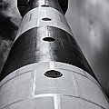 Cape Canaveral Lighthouse Black And White by Roger Wedegis