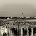 Cape May Light House In Sepia by Bill Cannon