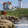 Cape Neddick Nubble Lighthouse Maine by Jeff Clinedinst