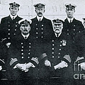 Captain And Officers Of The Titanic by Photo Researchers