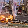 Car And Explosions At Disney Hollywood by Tim Mulina