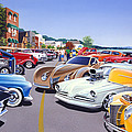 Car Show By The Lake by MGL Meiklejohn Graphics Licensing