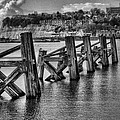 Cardiff Bay Old Jetty Supports Mono by Steve Purnell