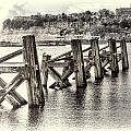 Cardiff Bay Old Jetty Supports Opal by Steve Purnell