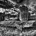 Carew Castle Pembrokeshire 4 Mono by Steve Purnell