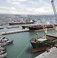 Cargo Ships In Port by Ria Novosti