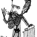 Caricature Of Roentgen And X-rays by