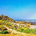 Carmel Rainbow Seascape by Gregory Dyer