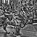 Carousel  Black And White by Ericamaxine Price