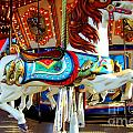 Carousel Horse With Fish by Mary Deal