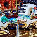 Carousel Horse With Leaves by Mary Deal