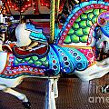 Carousel Horse With Sea Motif by Mary Deal