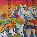 Carousel Of Horses by Genie Morgan