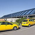 Cars Lining Up For Pickup At The Airport by Jaak Nilson
