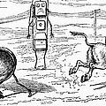 Cartoon: Telephone, 1886 by Granger