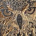 Carved Eagle Owl by Julia Forsyth