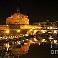 Castel San Angelo At Night. Rome by Bernard Jaubert