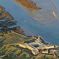 Castillo De San Marcos In St Augustine Florida - Aerial Photo by Elizabeth Rose