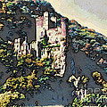 Castle Above The Rhine In Germany by Phyllis Kaltenbach