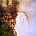 Castle At The Edge Of The Falls by Jill Battaglia