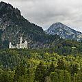 Castle Neuschwanstein With Alps In The Background by U Schade