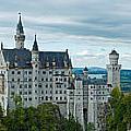 Castle Neuschwanstein With Surrounding Landscape by U Schade