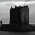 Castle Stalker Dusk Silhouette by Gary Eason