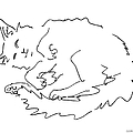 Cat-drawings-black-white-1 by Gordon Punt