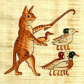 Cat Herding Ducks Egyptian Comic by Pet Serrano
