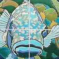 Catalina Tile Blue Fish by Jeff Lowe