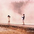 Catching The Steam In Yellowstone by Ann Johndro-Collins