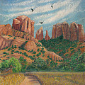 Cathedral Rock In Sedona by Marcia  Perry