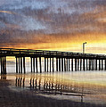 Cayucos Pier Reflected by Sharon Foster