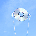 Cd With Earphone In The Sky. by Ichiro