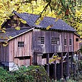 Cedar Creek Grist Mill In Autumn by Chalet Roome-Rigdon
