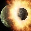 Celestial Impact, Artwork by Nasajpl-caltech