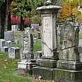 Cemtery Cracked Tombstones by Anita Burgermeister