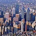Center City Aerial Photograph Skyline Philadelphia Pennsylvania 19103 by Duncan Pearson